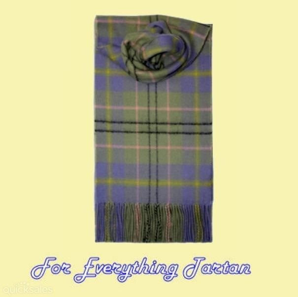 Taylor Ancient Clan Tartan Lambswool Fringed Scarf by