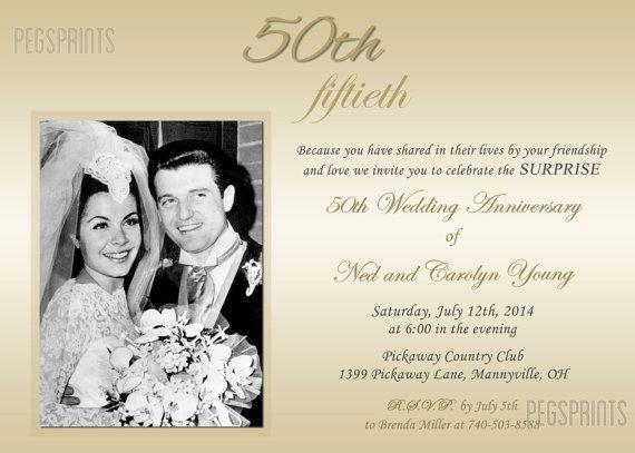 Surprise Wedding Anniversary Invitation Surprise 50th Anniversary