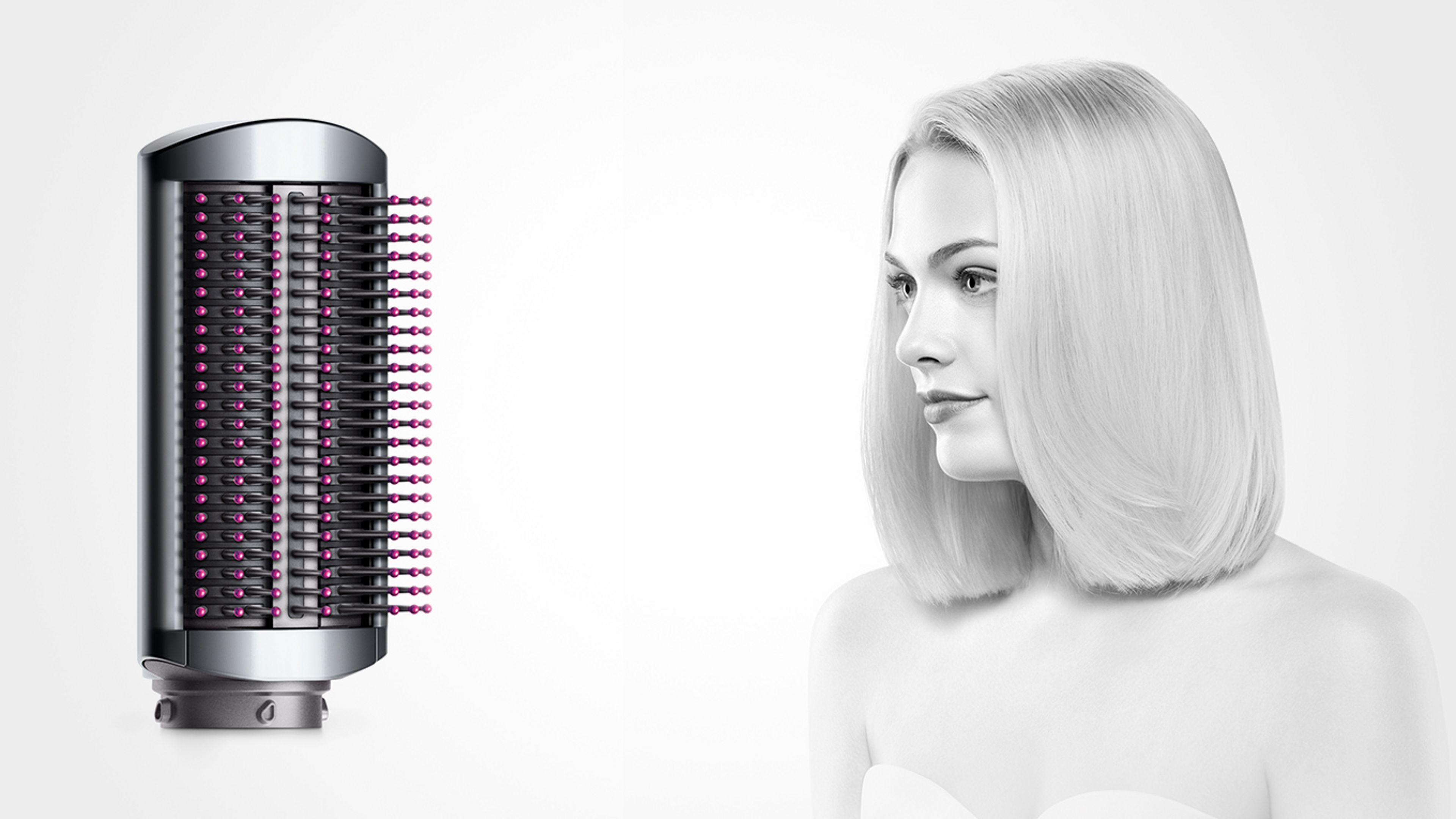 how to use dyson airwrap smoothing brush