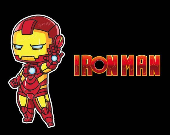 Iron Man Clipart Ironman Sticker Avengers Marvel Superhero