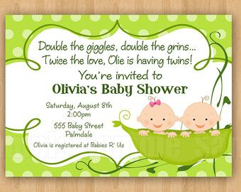 Printed 5x7 two peas in a pod baby shower by cohenlanedesigns 2 printed 5x7 two peas in a pod baby shower by cohenlanedesigns 2 peas in pod pinterest babies baby girl shower and shower invitations filmwisefo Image collections