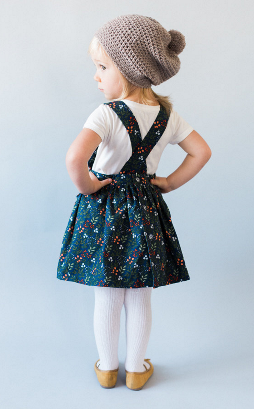 f75b4f0fb Handmade Floral Pinafore Dress