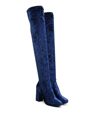 Another great find on Royal Blue Velvet Over-the-Knee Rumer Boot