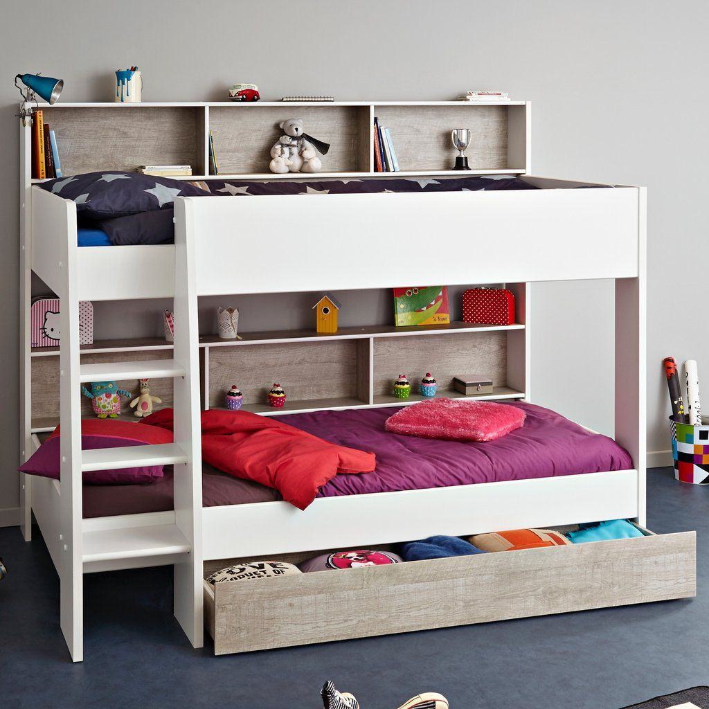 Parisot Tam 3 White Grey Bunk Bed