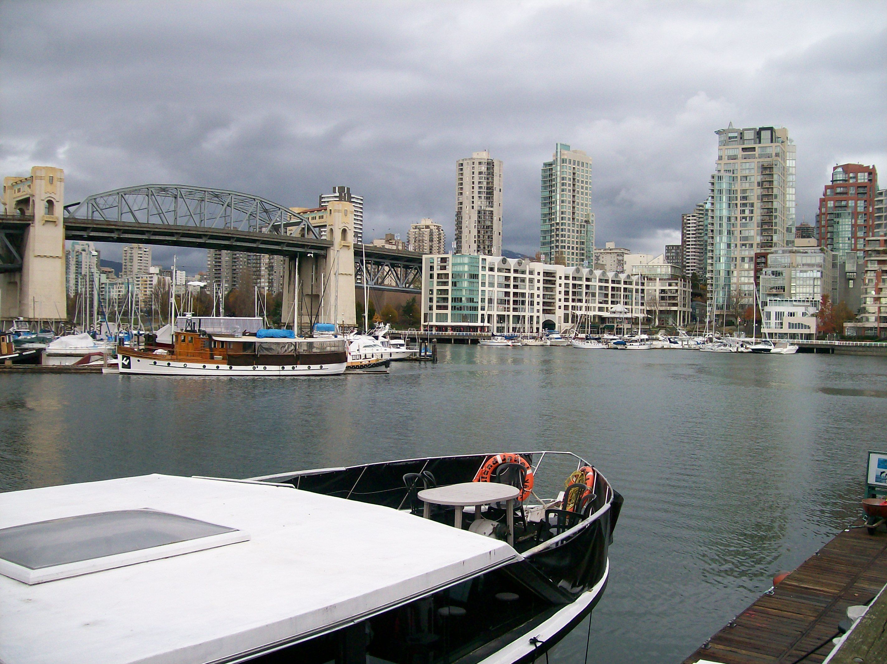 Another view of False Harbour on a rainy week in B.C
