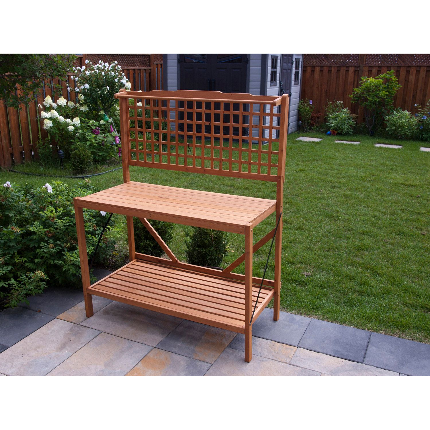 Foldable potting bench products