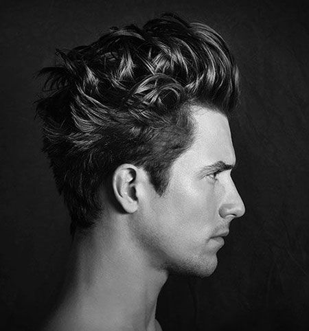 short dark rebellious haircut  wavy hair men mens