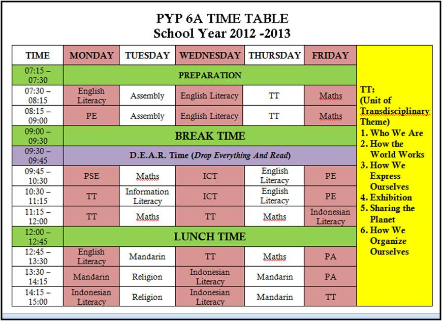 Great class website Includes timetable and how to present - project timetable