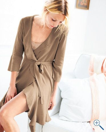 Ruffled Wrap Robe:  Simply and comfortably elegant.
