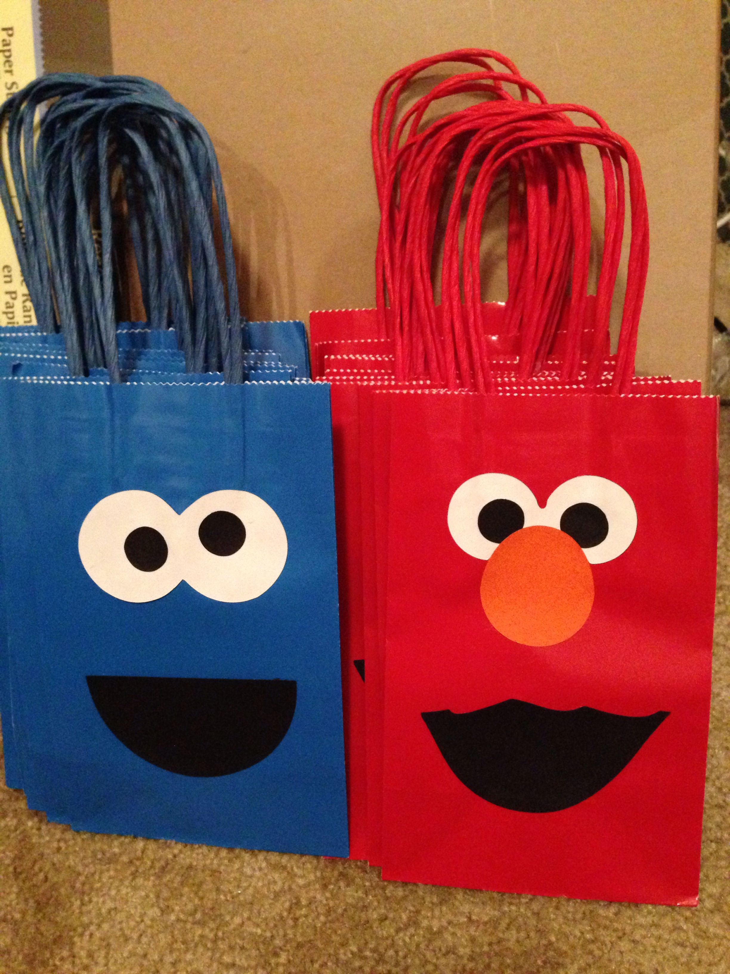 Elmo and Cookie Monster goo bags