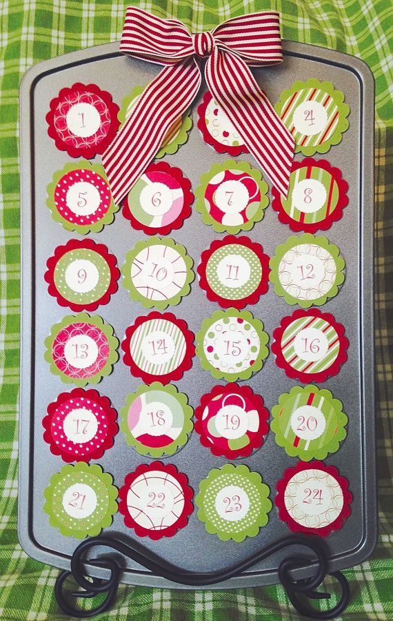 Countdown To Christmas Craft Ideas Part - 22: Covers ONLY Mini Cupcake Muffin Tin Advent Calendar--Countdown To Christmas