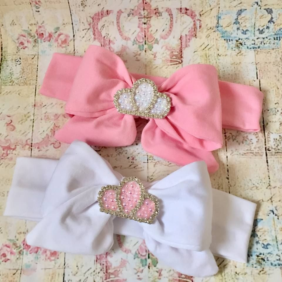 Baby girl cotton christening headband Luxyry crown 423b5c8f993
