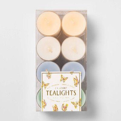6 6 X 3 1 24pk Tealight Candle Set Opalhouse Target Tea Lights Candles Candle Set