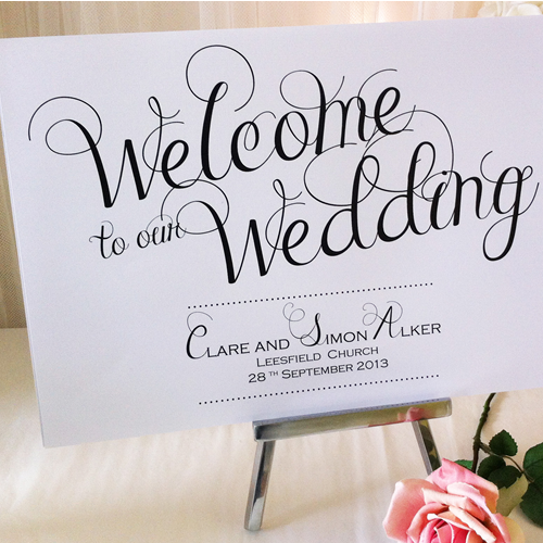 Beautiful Custom Print Signs From Made With Love Uk Available Just Or Have Your Wedding Sign Framed In A French Swept Frame