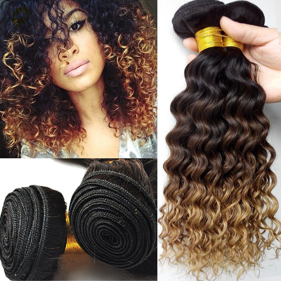 Vip Beauty Malaysian Curly Ombre Hair Extensions Virgin Malaysian Ombre Curly Hair 3 Pcs Lot Ombre Curly Hair Affordable Hair Extensions Ombre Hair Extensions
