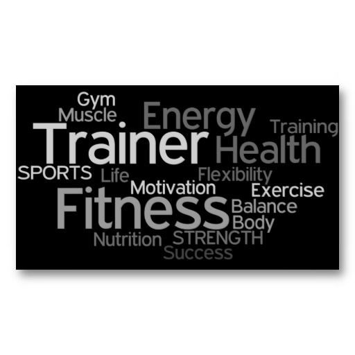 Personal Trainer Business Card Zazzle Com Personal Trainer Business Card Personal Trainer Business Fitness Business Card