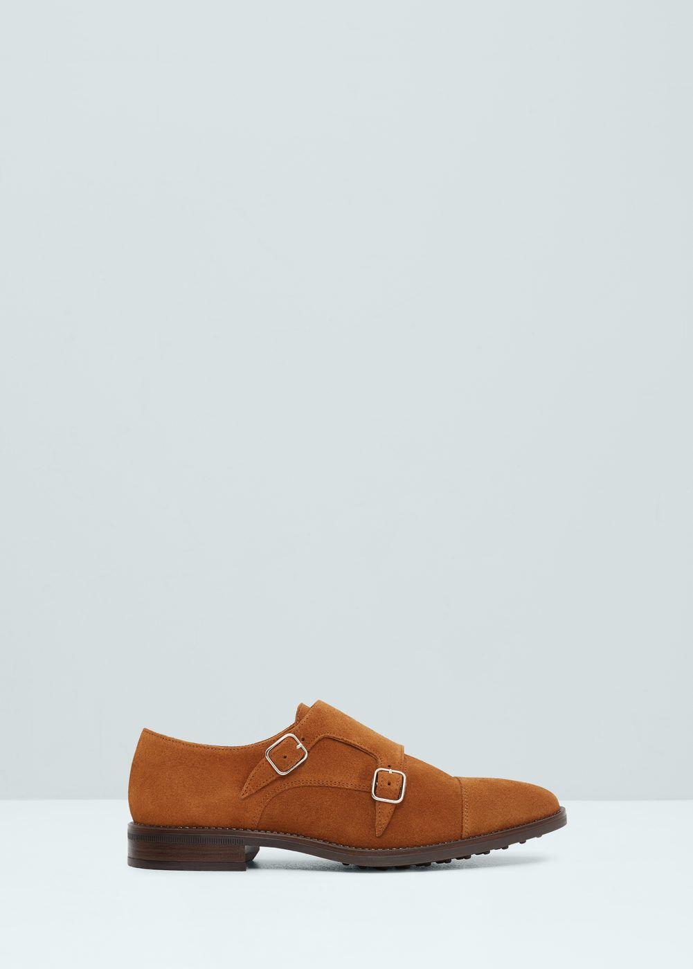 Sapatos monkstrap pele croute - Sapatos de Homem   MANGO