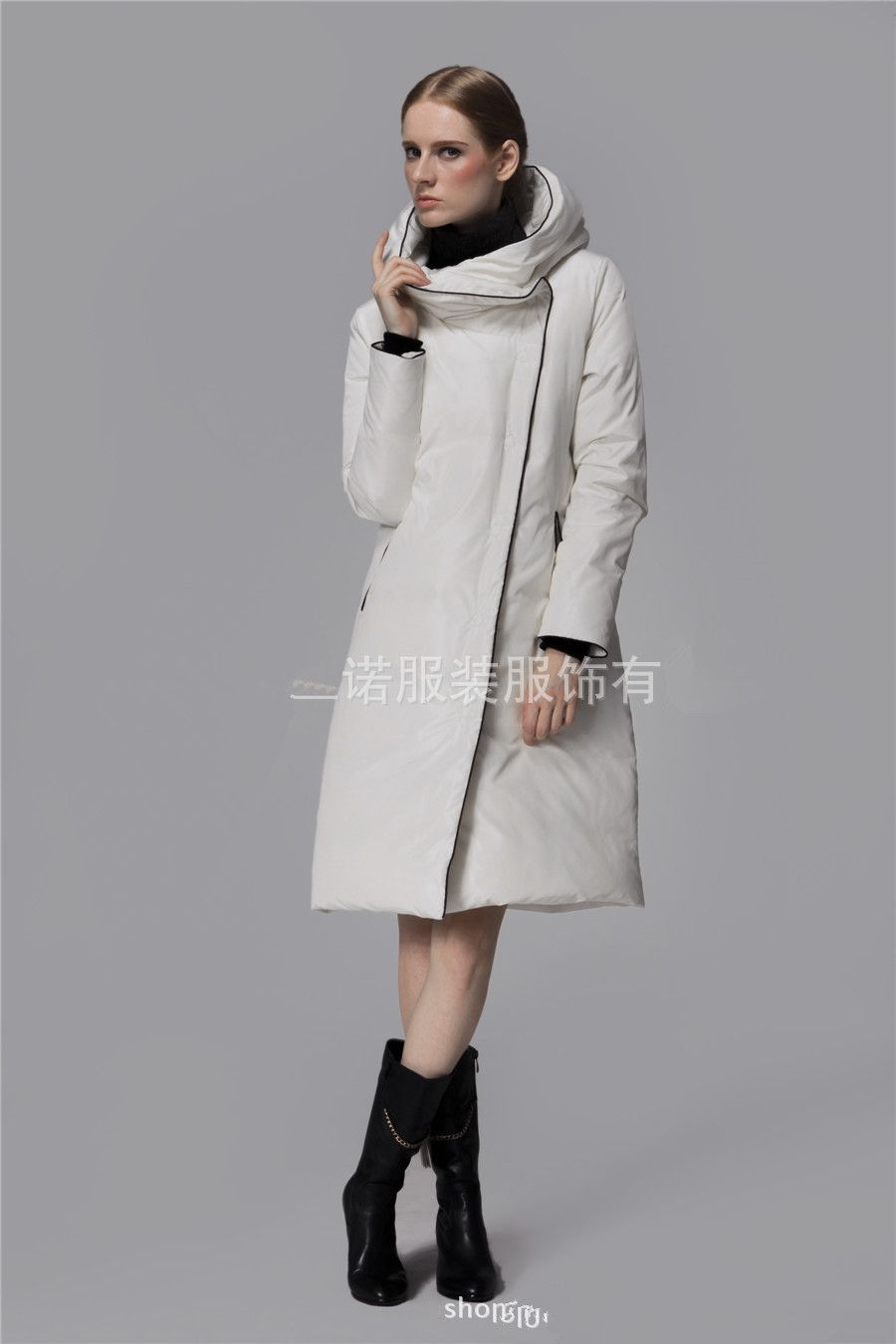 Free-shipping-white-coat-goose-down-font-b-jacket-b-font-women-s ...