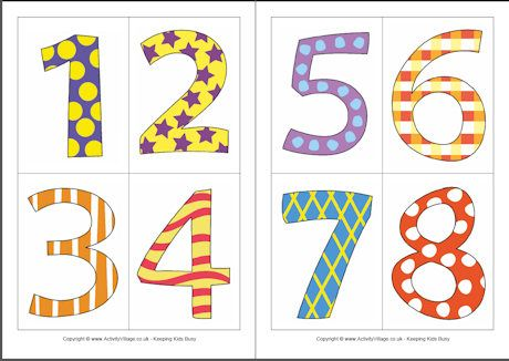 picture relating to Free Printable Numbers 1 10 referred to as Digit playing cards - stunning vibrant colors and layouts