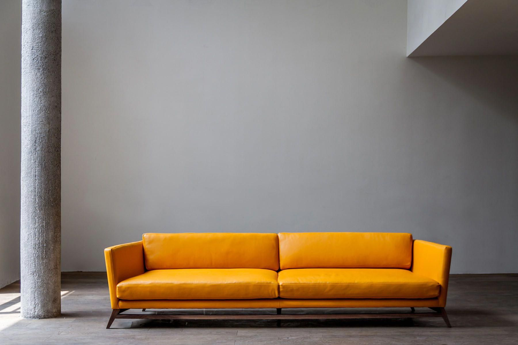 Luteca Eclipse Sofa Leather And Wood Available Upon Order At Atelier Courbet Www Ateliercourbet Com Furniture Modern Sofa Designs Best Leather Sofa