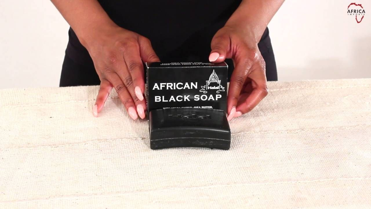 Black soap & shea butter soap from Africa Imports $1.99 Helps clear skin bumps and spots by using black soap daily. It helps relieve acne, oily skin & other skin problems. M-S538