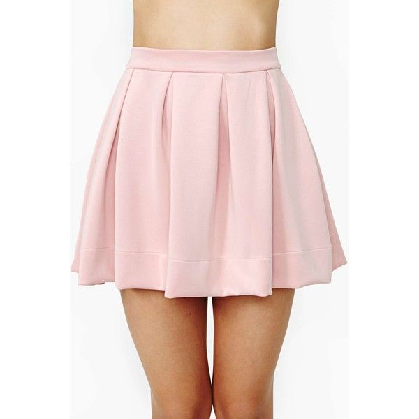 Scuba Skater Skirt ($17) ❤ liked on Polyvore featuring skirts, bottoms, pink, faldas, blush, pleated skater skirt, skater skirts, high waisted circle skirt, pink skater skirt and pleated circle skirt