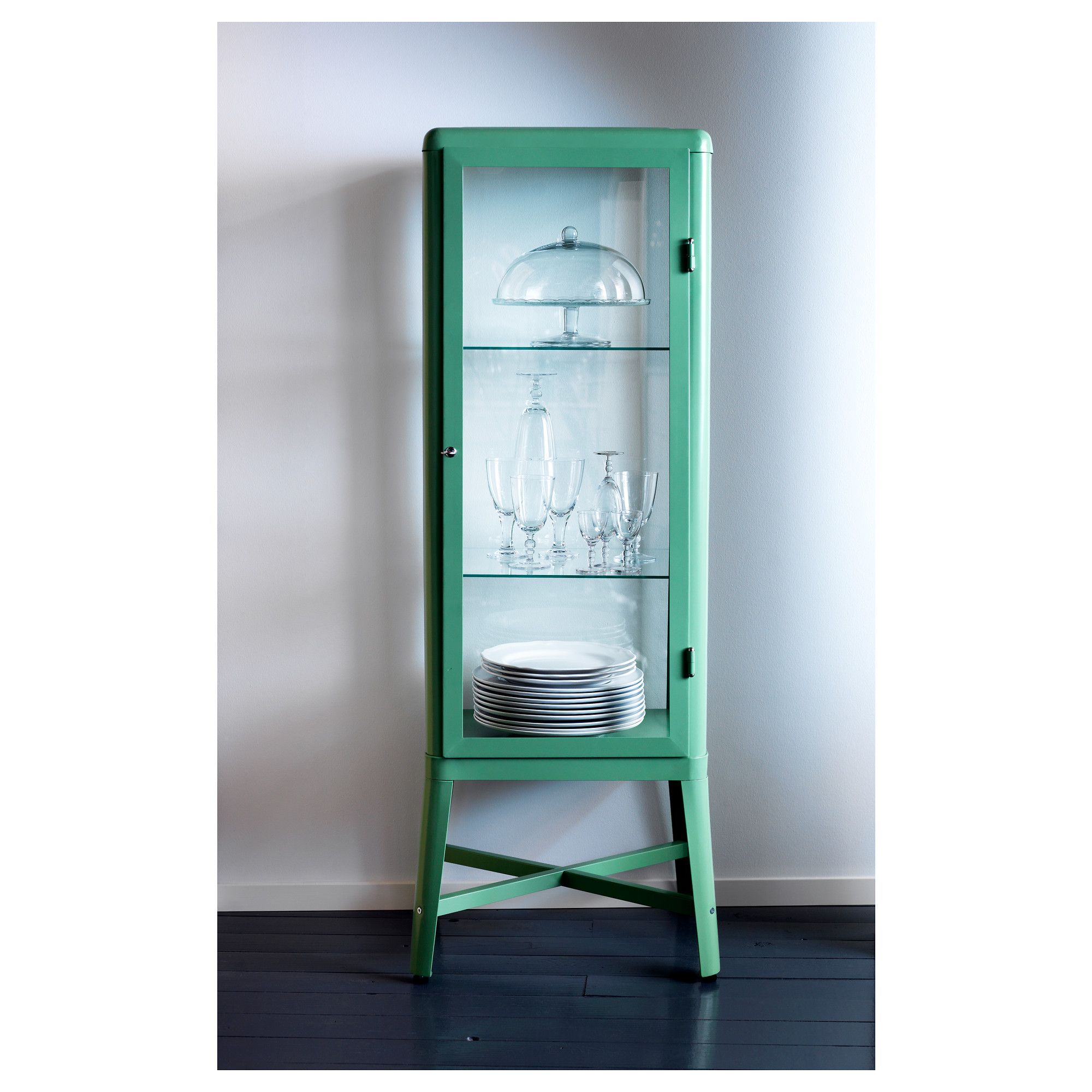 ikea cabinet lighting. FABRIKÖR Glass-door Cabinet - Light Green IKEA Perfect For A Bathroom Or Extra Kitchen Storage- Great Colors, Too! Ikea Lighting