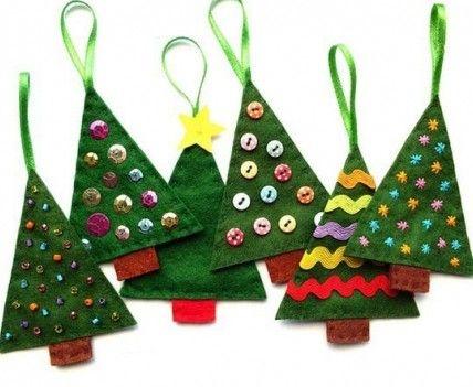 Christmas craft #joulu #joulukoriste #kuusenkoriste #puu #huopa