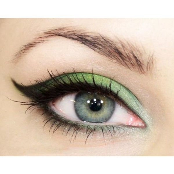 20 Gorgeous Makeup Ideas for Green Eyes ❤ liked on Polyvore