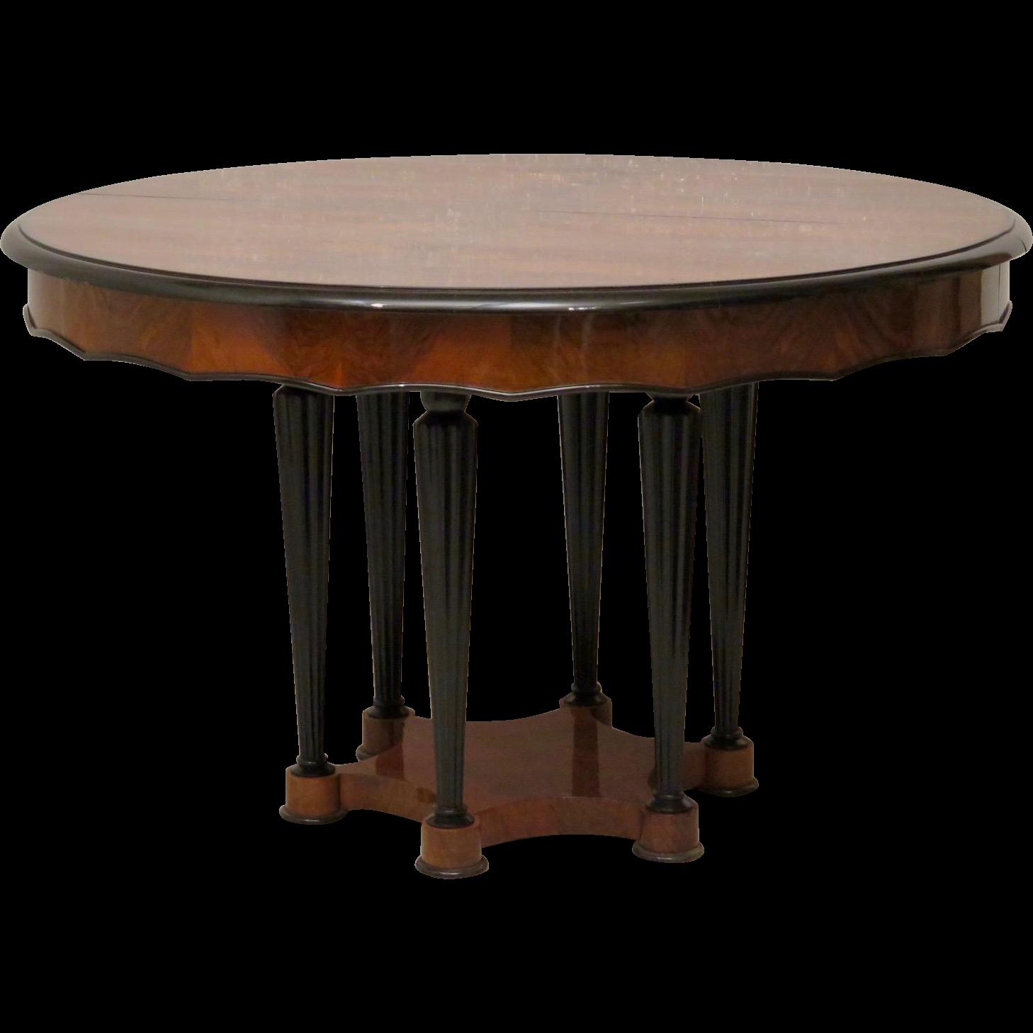 Rare Biedermeier Extendable Table