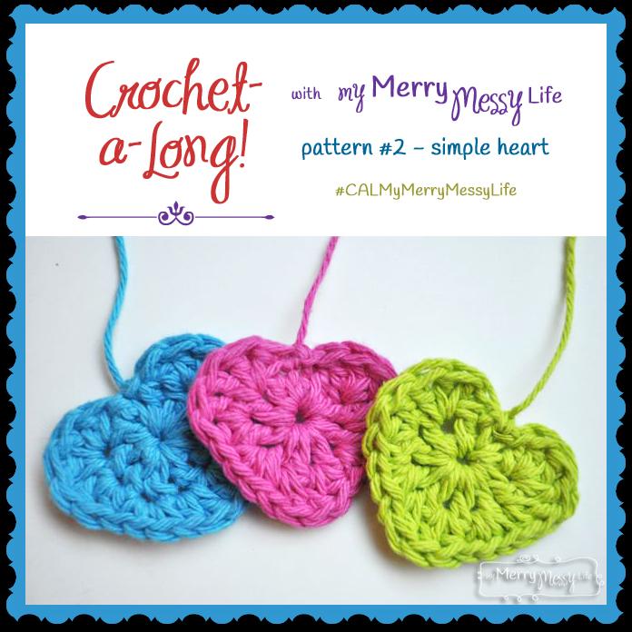 Simple Crochet Heart - Free Crochet Pattern | Tejido, Aplicación y ...