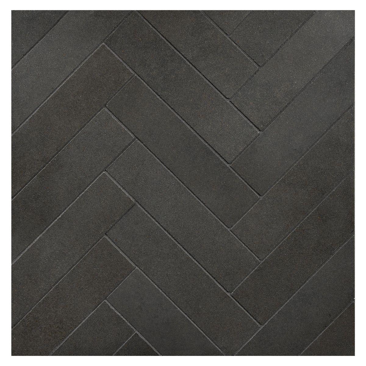 Deep Basalt Herringbone Harmony 1 1 2 X 6 Micro Joint Mosaic Black Mosaic Tile Basalt Black Floor Tiles