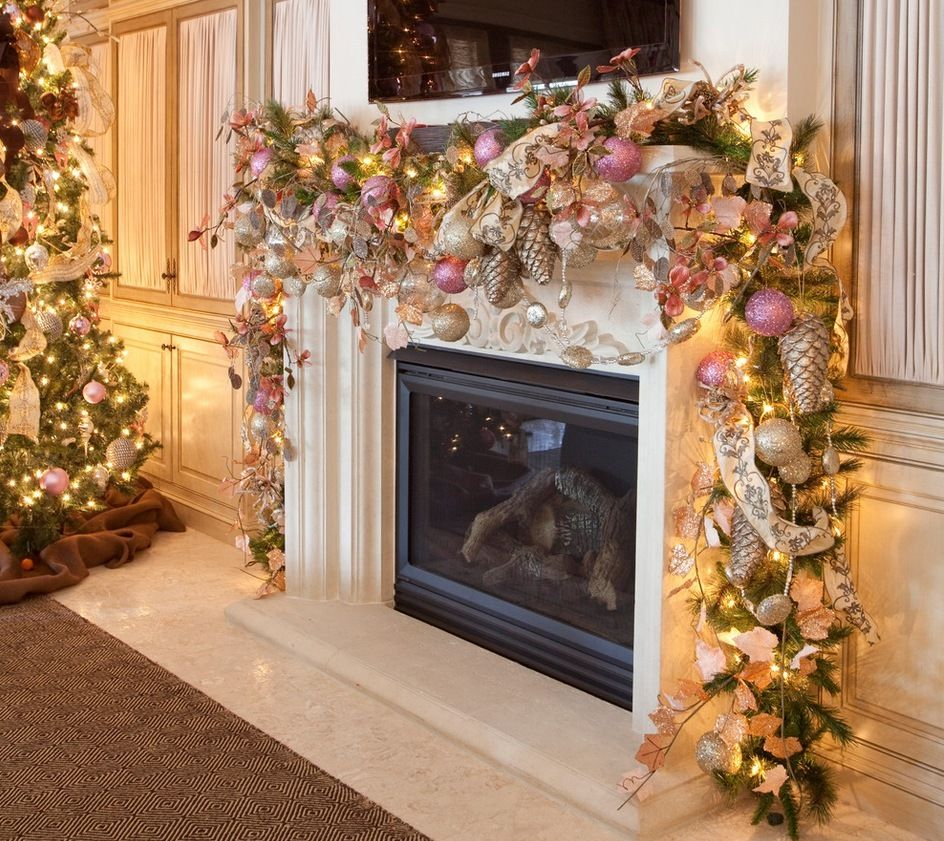 decorationlovely christmas mantel decor with christmas ornaments and christmas garland decorations also fireplace as well as christmas tree decorations - Christmas Mantel Decorations Garland