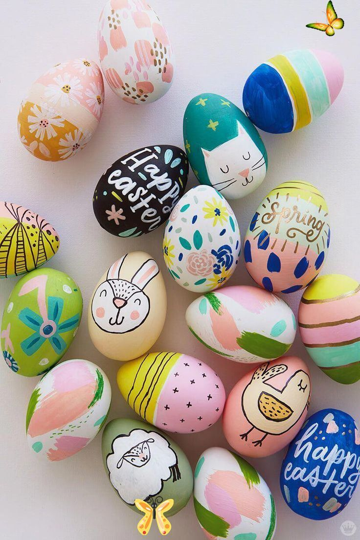 2018 Easter egg decorating Ideas from designers and