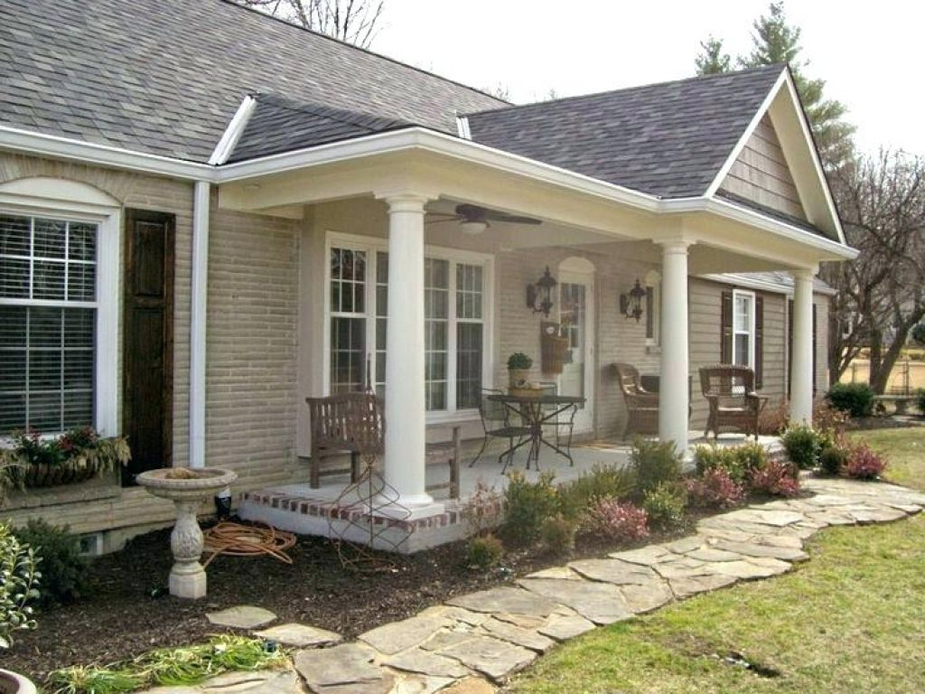 Front Porch Ideas For Ranch Style Homes Before And After Front Front Porch Designs For Ranch Homes Front Porch