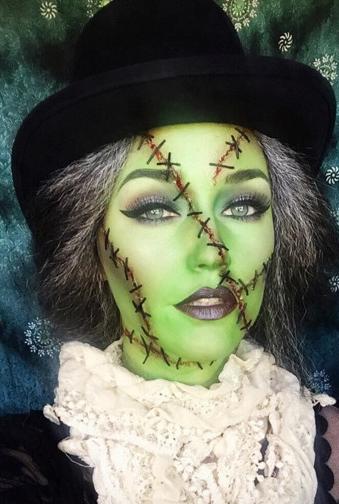 Cute witch frankenstein make up for halloween no copyright to me cute witch frankenstein make up for halloween no copyright to me i do not ccuart Images