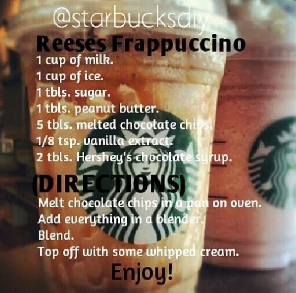 Diy Reese S Frappuccino In 2019 Starbucks Recipes