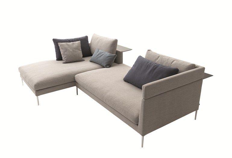 Sofa aus Stoff mit Récamiere PILOTIS Sofa aus Stoff - COR - design sofa moderne sitzmobel italien