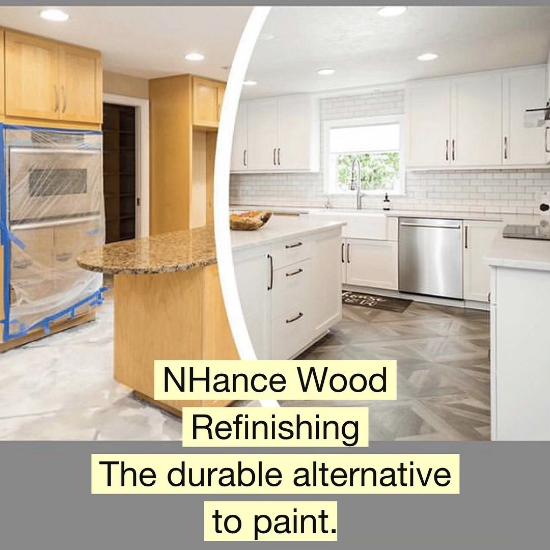 Durability It S One Of The Many Things That Sets Nhance Wood Refinishing Apart From Painting Process Prod Shower Renovation Wood Refinishing Home Remodeling