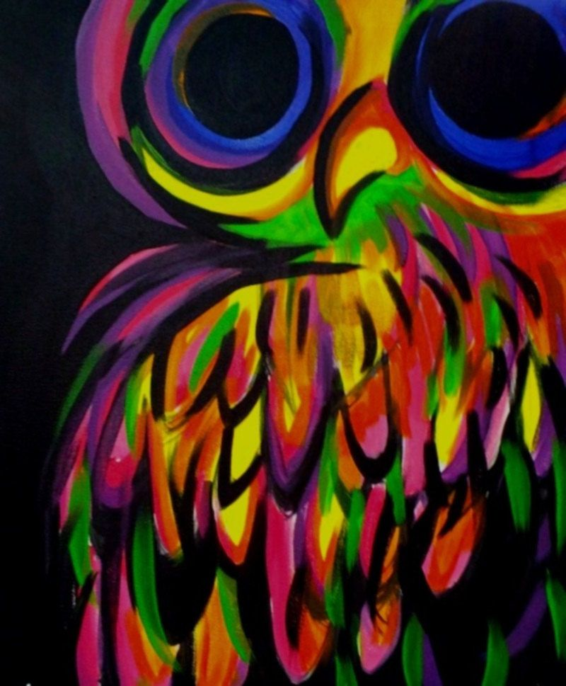 'Neon Owl' by Amanda North | Art | Pinterest | Amanda ...