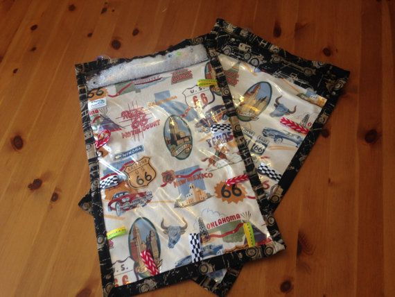 Route 66 Owlet-On-The-Go Table Mat by WhisperingOwlets on Etsy