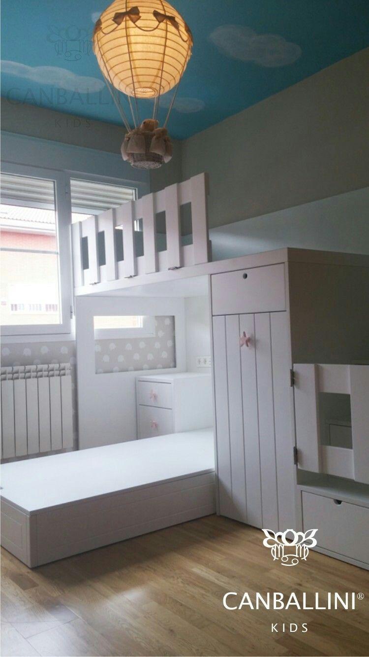 Literas Con Camas En L Para Habitaciones Infantiles Y Juveniles  # Bubba Muebles Infantiles