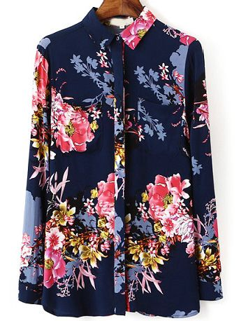 Shop Multicolor Lapel Long Sleeve Floral Blouse online. SheIn offers Multicolor Lapel Long Sleeve Floral Blouse & more to fit your fashionable needs.