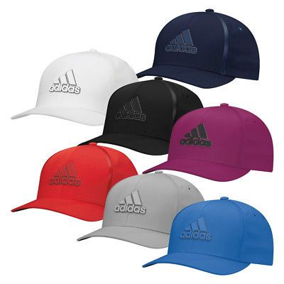 77d046b1d01 Golf Visors and Hats 158937  New Adidas Golf Tour Delta Textured Fitted Hat  Moisture Wicking