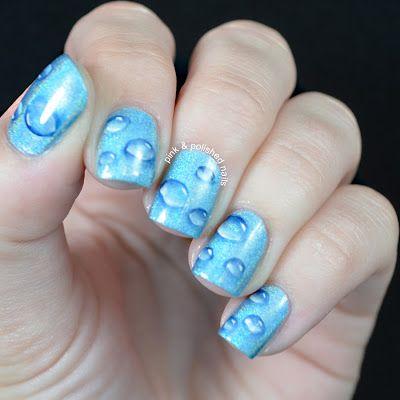 I like the water drop look // Polished #nail #nails #nailart
