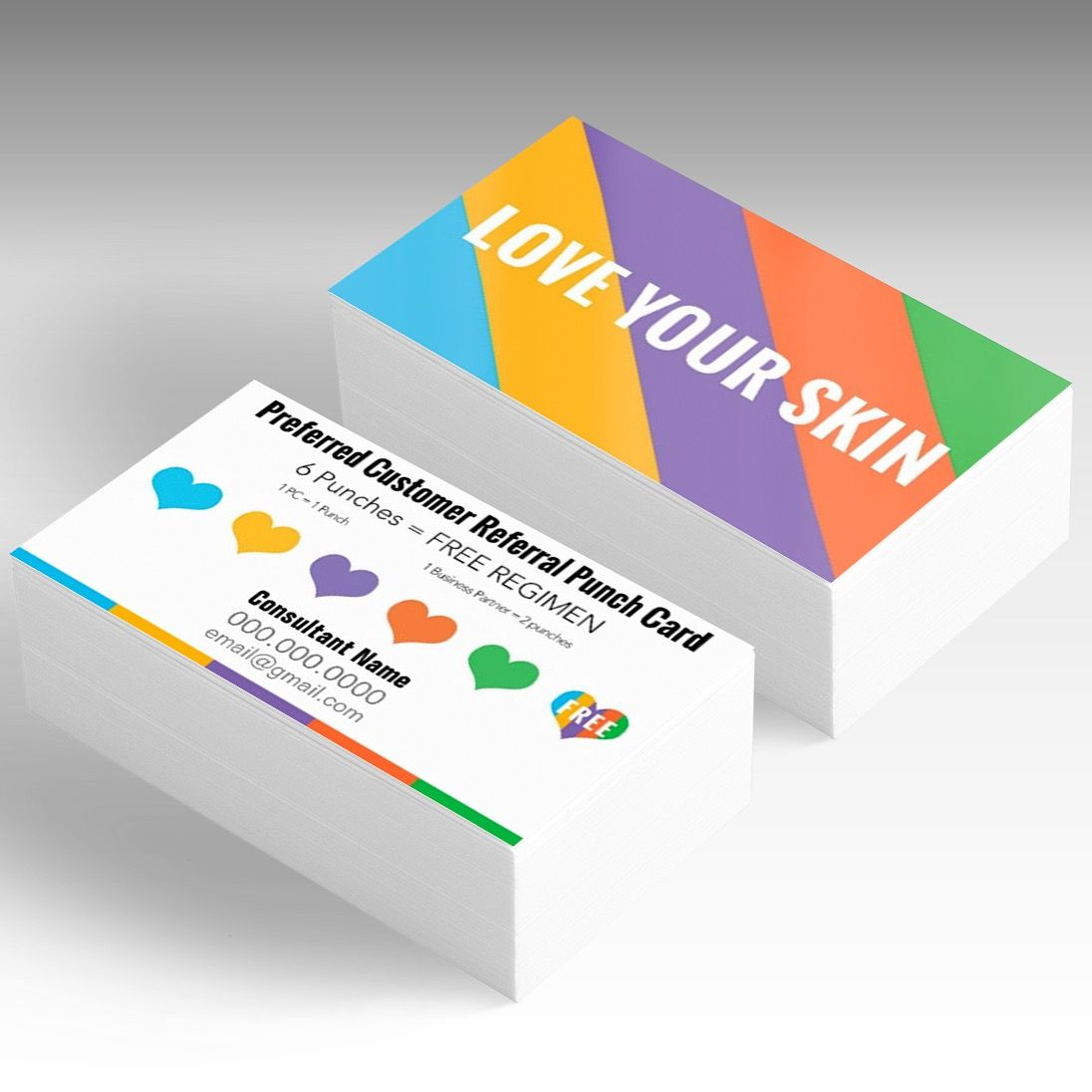 Rodan and fields preferred customer referral punch card designs rodan and fields preferred customer referral punch card business card templatesbusiness colourmoves