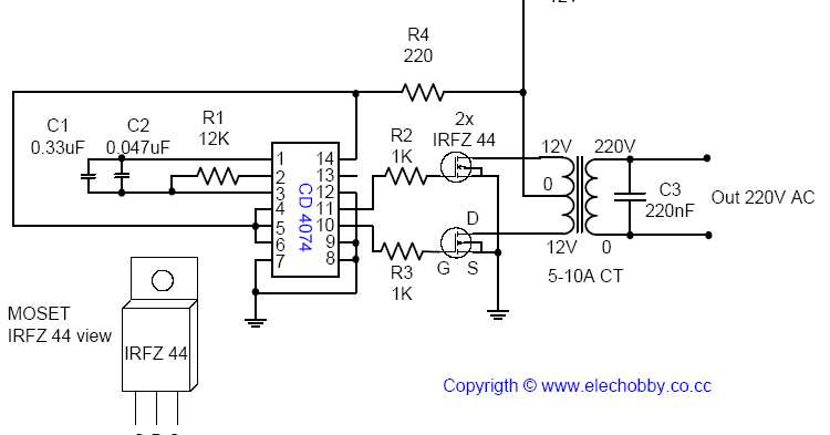 The electronic circuit described here is from a voltage