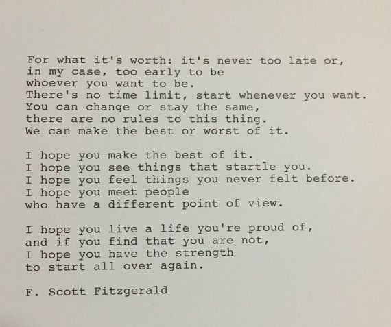 F Stock Quote Fscott Fitzgerald Quote Hand Typed Typewriter Quote  Pinterest