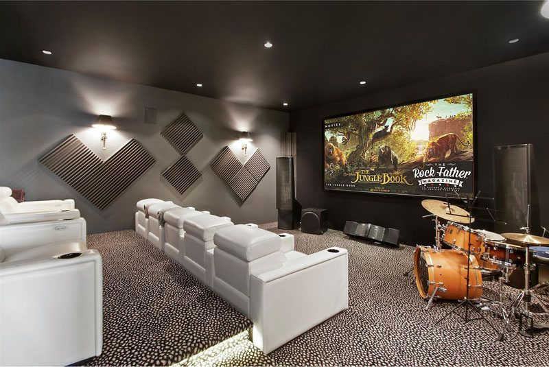 Movie Theaters With Lounge Chairs Rigby Accent Chair And Ottoman This Home Theater Room Has Tiered White Perfect For Viewing