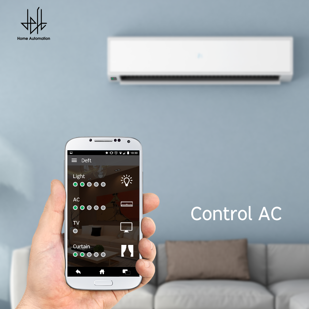 Control your AC temperature with DEFT Home Automation System